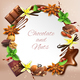 Realistic Chocolate Round Frame Background