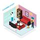 Home Staff Isometric Design Concept