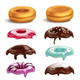Donut Toppings Realistic Set