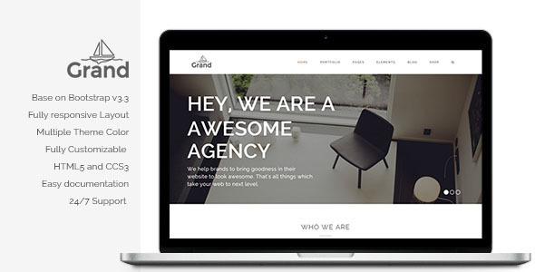 Grand - Creative Responsive Multipurpose Theme - Creative WordPress