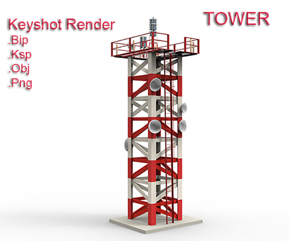 Tower Keyshot Render - 3DOcean Item for Sale