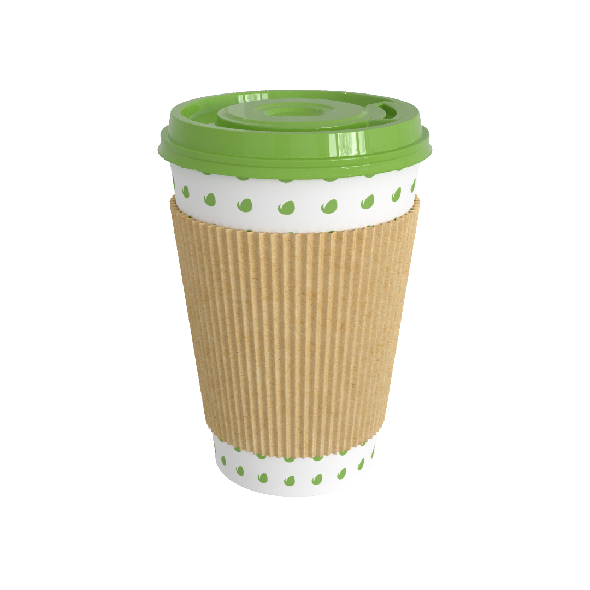 Paper Coffee Cup With A Lid And Cover