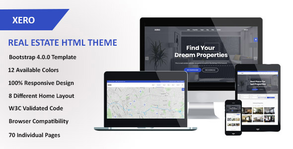 Image of Xero - Real Estate HTML Template