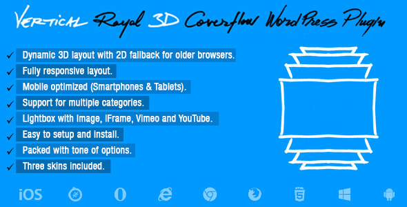 Vertical Royal 3D Coverflow Wordpress Plugin            Nulled