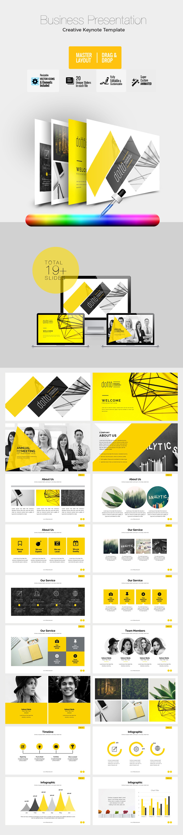 Corporate Business Keynote Template - Keynote Templates Presentation Templates