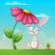 Cartoon Landscape with Rabbit Illustration - GraphicRiver Item for Sale