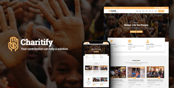 Image of Charitify - NGO/Charity/Fundraising HTML Template