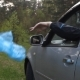 Man Throws the Garbage out of the Car Outdoors - VideoHive Item for Sale