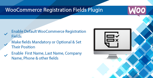 WooCommerce Registration Plugin, Enable Default WooCommerce Fields - CodeCanyon Item for Sale