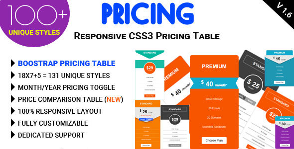 Pricing - Responsive CSS3 Pricing Table - CodeCanyon Item for Sale