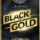 Black & Gold Flyer - GraphicRiver Item for Sale
