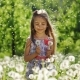Portrait of a Girl in the Garden with Dandelions Smiling - VideoHive Item for Sale