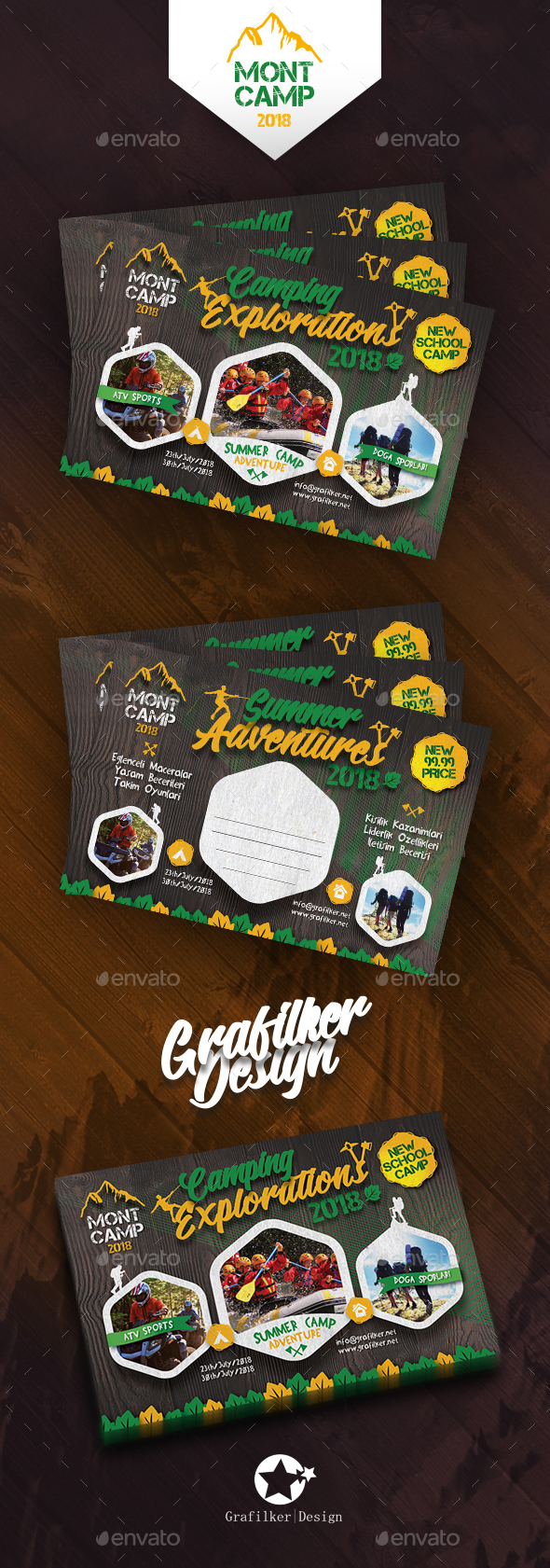 Camping Adventure Postcard Templates - Cards & Invites Print Templates