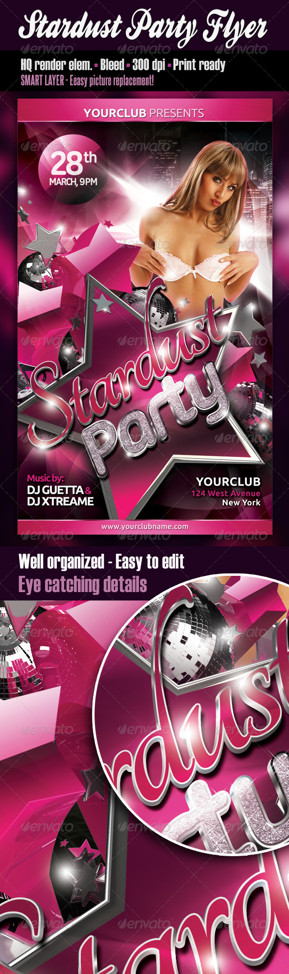 Stardust Party Flyer - Clubs & Parties Events