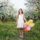 Portrait of a Young Girl in a Blooming Apple Orchard - VideoHive Item for Sale
