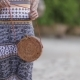 Woman with Fashionable Stylish Rattan Bag on the Beach of Bali - VideoHive Item for Sale