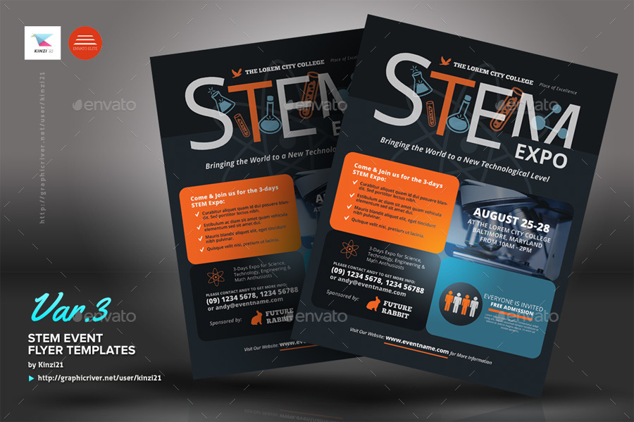 Stem Event Flyer Templates By Kinzi21 Graphicriver