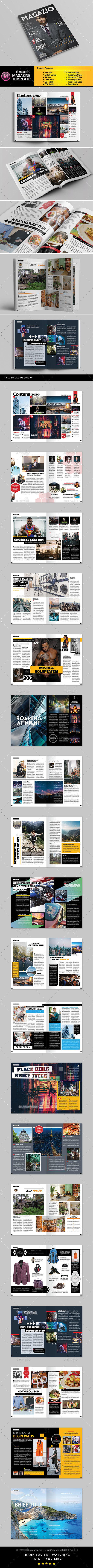 A4 Letter Magazine Template - Magazines Print Templates