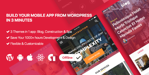 gikApp - React Native Mobile App For Wordpress - CodeCanyon Item for Sale