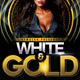 White and Gold Party Flyer