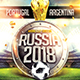 Russia World Cup Soccer Flyer - GraphicRiver Item for Sale