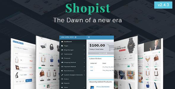 Shopist | Laravel Multivendor eCommerce, CMS and Designer - CodeCanyon Item for Sale