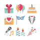 100 Party and Celebration Color Vector Icons Set - GraphicRiver Item for Sale