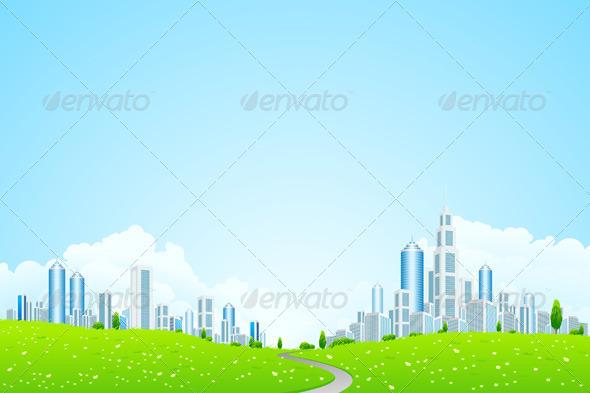 Landscape with Business City - Landscapes Nature
