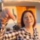 Happy Young Woman with New House Keys Outdoors - VideoHive Item for Sale
