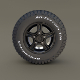Offroad Alloy Wheel MUD - 3DOcean Item for Sale