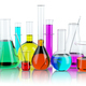 Laboratory glassware test glass flasks and tubes with solution i - PhotoDune Item for Sale