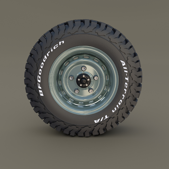 Offroad Steel Wheel AT - 3DOcean Item for Sale