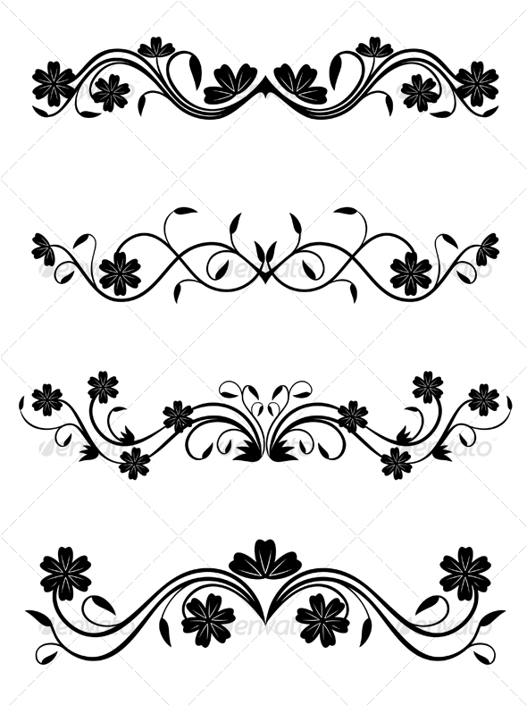 Floral Decoration floral decorationsseamartini | graphicriver