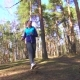 Girl Falls on a Run in the Forest, Sports Injury - VideoHive Item for Sale
