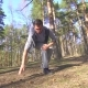 Man During a Jog Gets a Knee Injury in a Sunny Forest - VideoHive Item for Sale