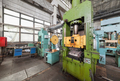 Hydraulic press of green color at the factory - PhotoDune Item for Sale