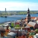 Aerial View of the Center of Riga From the Church of St. Peter, Latvia - VideoHive Item for Sale