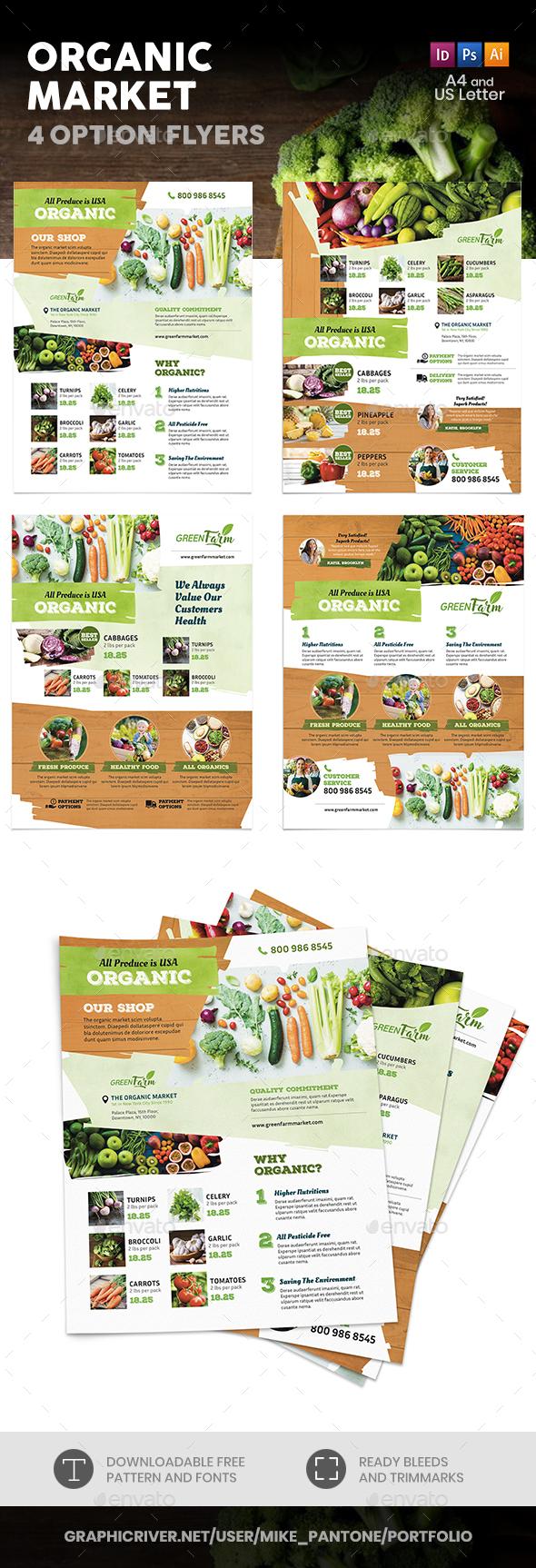 Organic Market Flyers 3 – 4 Options - Commerce Flyers