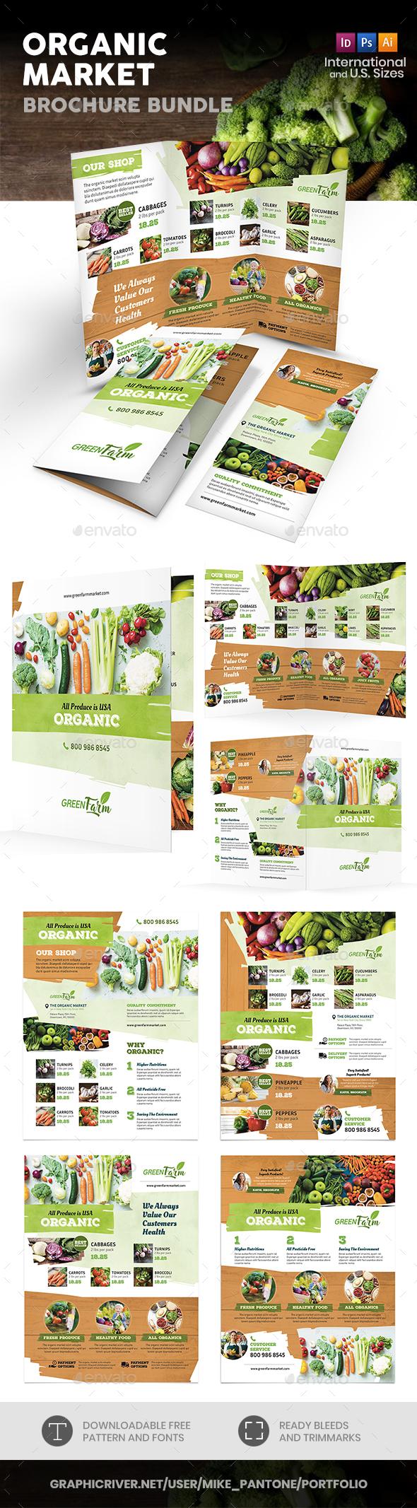 Organic Market Print Bundle 3 - Informational Brochures