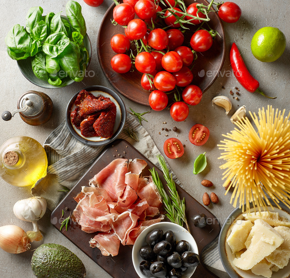 healthy food ingredients - Stock Photo - Images