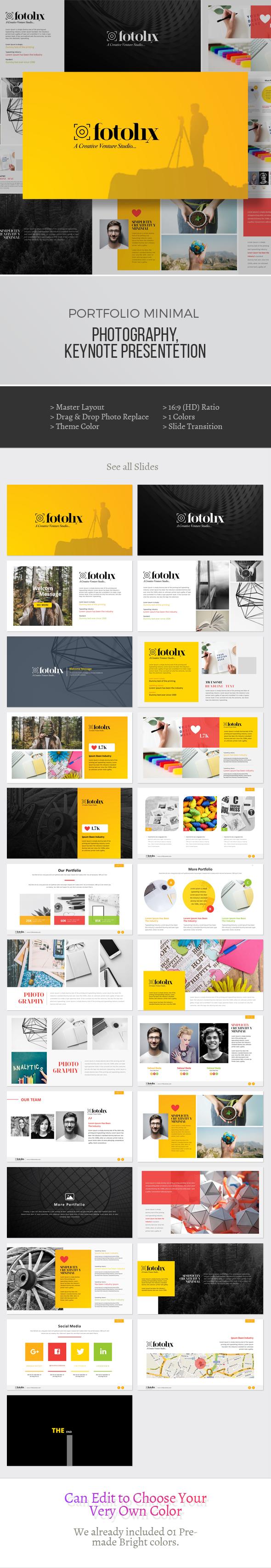 Portfolio & Photography Keynote Presentation - Keynote Templates Presentation Templates