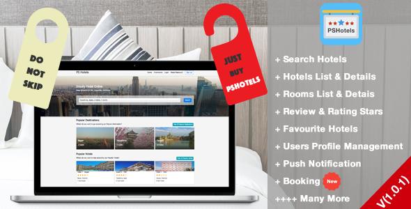 PSHotels Website (Ultimate Hotels Finder Website With Backend) - CodeCanyon Item for Sale