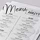 Minimalist Menu + Business Card - GraphicRiver Item for Sale