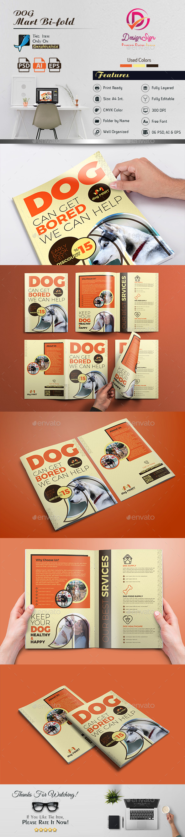 Dog Bi-Fold Brochure - Brochures Print Templates