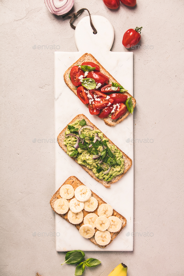 Healthy sandwiches - Stock Photo - Images