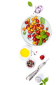 Tomato salad with fresh tomatoes, basil and olive oil - PhotoDune Item for Sale
