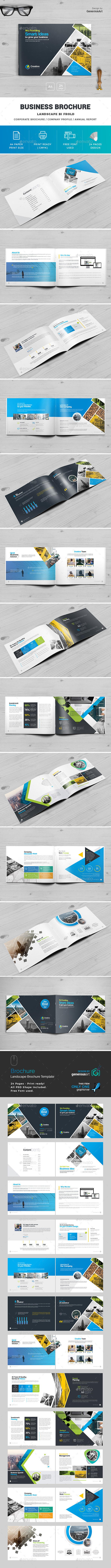Landscape Brochure Template - Brochures Print Templates