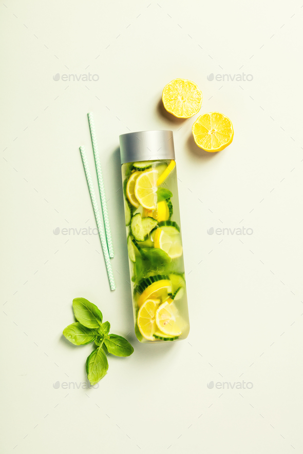 Infused water-vertical composition - Stock Photo - Images