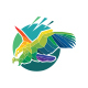 Polygonal Hawk Bird Logo