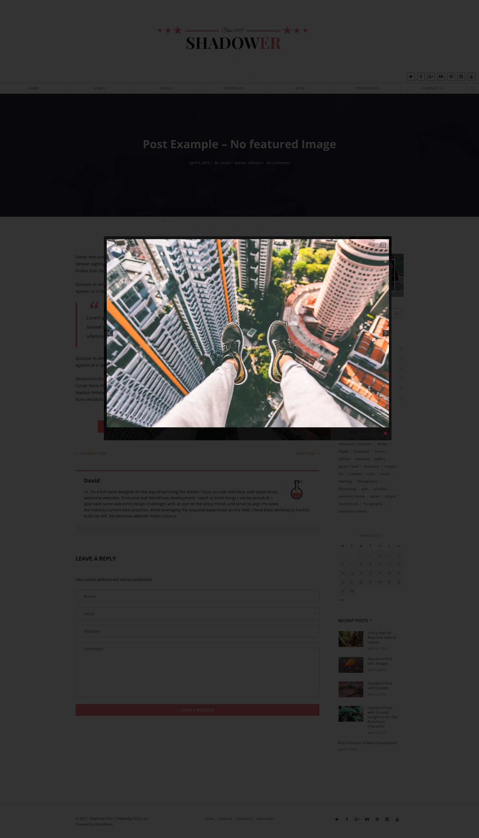 Shadower Pro - A Clean & Responsive WordPress Theme for Bloggers by ...